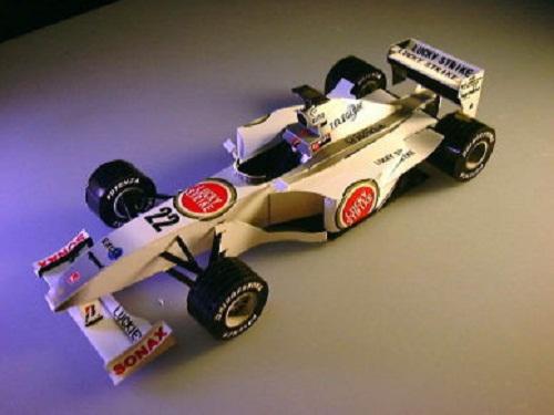 Сборные модели из бумаги Болиды Формулы-1.